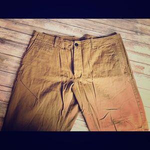 Old Navy Tan Broken-In Straight Khaki Pant 36x30